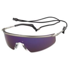 Crews Triwear Metal Protective Eyewear, Platinum Frame, Indoor/Out, Clear/Mirror Lens