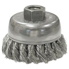 Anderson US80S Stainless Steel Knot-Wire Cup Brush, .0118 Wire, 5/8-11 TPI