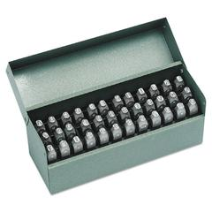"""36-Piece Combination Letter and Number Stamp Set, 1/8"""""""