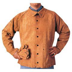 Q-Lined Leather Jacket, Large