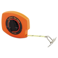 "Hi-Viz Universal Lightweight Measuring Tape, 3/8"" x 50ft, Orange, Steel"