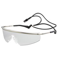 Crews Triwear Metal Protective Eyewear, Platinum Frame, Clear Anti-Fog Lens