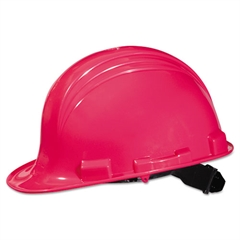 North Safety A-Safe Peak Hard Hat, Hot Pink, 4-Point Suspension