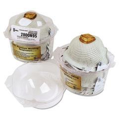 Moldex 2800 Series HandyStrap N95 Respirator Particulate Respirator Locker, 4 Masks