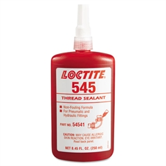 545 Thread Sealant, For Hydraulic/Pneumatic Fittings,5 250mL