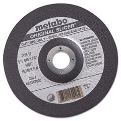"metabo ORIGINAL SLICER Cutting Wheel, 6"" x .045 x 7/8"", Type 27, A60TZ"