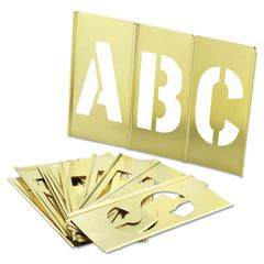 33-Piece Single-Letter Brass Stencil Set