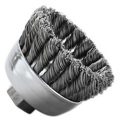 "SRA-2 General-Duty Knot Wire Cup Brush, .020, SS, 5/8-112, 3/4"" dia"