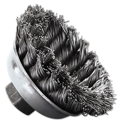 "Weiler SRA-3 General-Duty Knot Wire Cup Brush, .020, 5/8-113, 1/2"" dia"