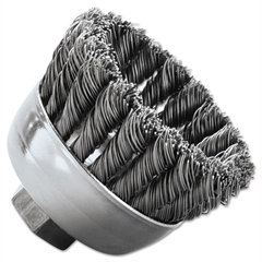 "Weiler SRA-2 General-Duty Knot Wire Cup Brush, .020, 5/8-112, 3/4"" dia"