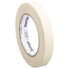 "Shurtape Utility Grade Masking Tape, 3/4"" x 60yds, Crepe"