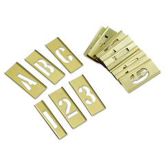 C.H. Hanson 45-Piece Combination Letter and Number Stamp Set