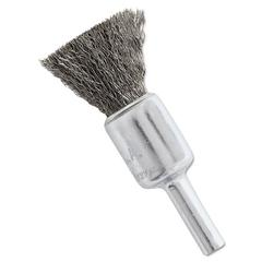 """NS4S Stainless Steel Wire-End Brush, Crimped Wire, 1/2"""" x .006"""""""