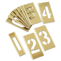 15-Piece Single-Number Brass Stencil Set