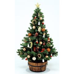 """Christmas Tree Mat, Clear Polycarbonate, Large Size 36"""" Diameter"""