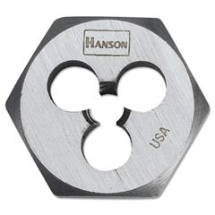 """3/8""""-16 High-Carbon Steel Hex agon Die 1"""" Diameter"""