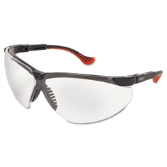Genesis XC Two-Shot Safety Glasses, Black Frame, Clear Len