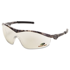 Crews Mossy Oak Safety Glasses, Forest-Camo Frame, Indoor/Outdoor, Clear/Mirror Lens