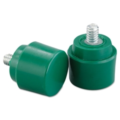 "NUPLA Soft Face Hammer Striking Tip, 1"", Green, Flat"