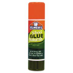 Elmer's School Glue Naturals, Clear, 0.21 oz Stick, 30 per Pack