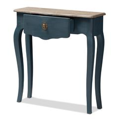 Mazarine Classic and Provincial Blue Spruce Finished Console Table