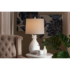 Baxton Studio Flinn Modern and Contemporary White Pineapple Table Lamp