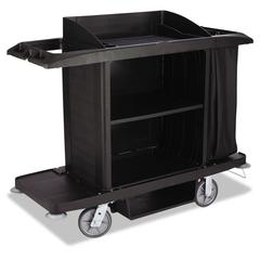 Rubbermaid Commercial Housekeeping Cart, 22w x 60d x 50h, Black