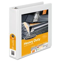 "Heavy-Duty D-Ring View Binder w/Extra-Durable Hinge, 2"" Cap, White"