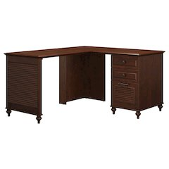 Single Pedestal L Desk