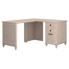 Single Pedestal L Desk