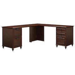 Double Pedestal L Desk