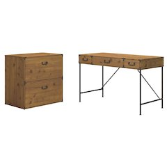 48W Writing Desk and Lateral File