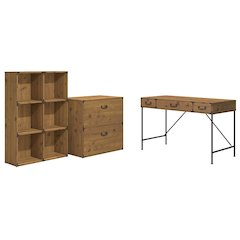 48W Writing Desk, 6 Cube Bookcase, and Lateral File