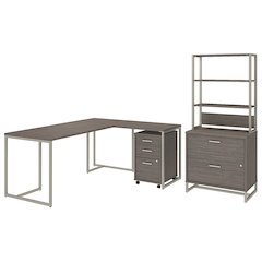 72W Desk with 30W Return and File Storage