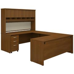 Series C 72W U Shaped Desk with Hutch and Storage
