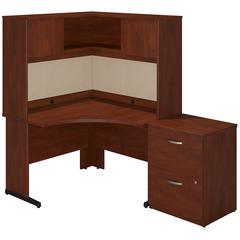 Series C Elite 48W x 48D C Leg Corner Desk with Hutch and Storage