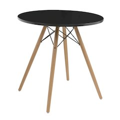 """Annette Complete Table-Round Black  27.5"""""""
