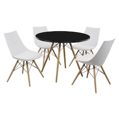"""Annette Complete Table-Round Black  40"""""""