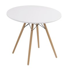"""Annette Complete Table-Round White  40"""""""