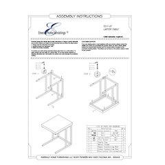 Stoneworks Laptop Table-Wood-Concrete-Metal