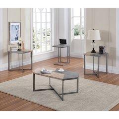 Rubix End Table W/Metal Base