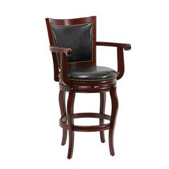 "29"" Jones Memory Swivel Stool, Cherry"