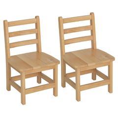 "12"" Atlas Classroom Chair- Natural (Set of 2)"