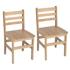 "18"" Atlas Classroom Chair- Natural (Set of 2)"