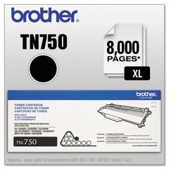 Brother TN750 High-Yield Toner, Black