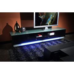 K99 83 Inch Low Profile Entertainment Cabinet in Black Lacquer Finish w/ RGB Multi-Color Accent Light by Diamond Sofa