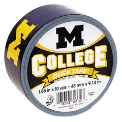 "College Tape, University of Michigan Wolverines, 1.88"" x 10 yds, 3"" Core"