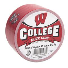 "Duck College DuckTape, University of Wisconsin Badgers, 1.88"" x 10 yds, 3"" Core"