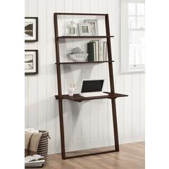 Arlington Wall Shelf with Desk, Dark Cappuccino