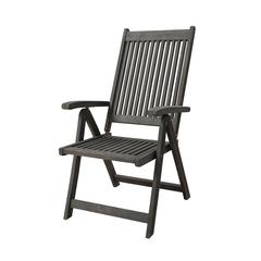 Renaissance Outdoor Patio Hand-scraped Wood 5-Position Reclining Chair
